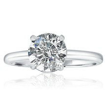 1.70 Ct Solitaire Round Cut Diamond Hidden Halo Engagement Ring 14k Whit... - $3,457.37