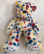 """Ty Beanie Buddy Confetti Y2K 1999 Retired Plush Bear Large 13"""" MWMT - $13.85"""