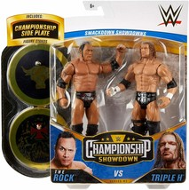WWE Championship Showdown 2-Pack Triple H & The Rock Action Figure 2pk B... - $25.95