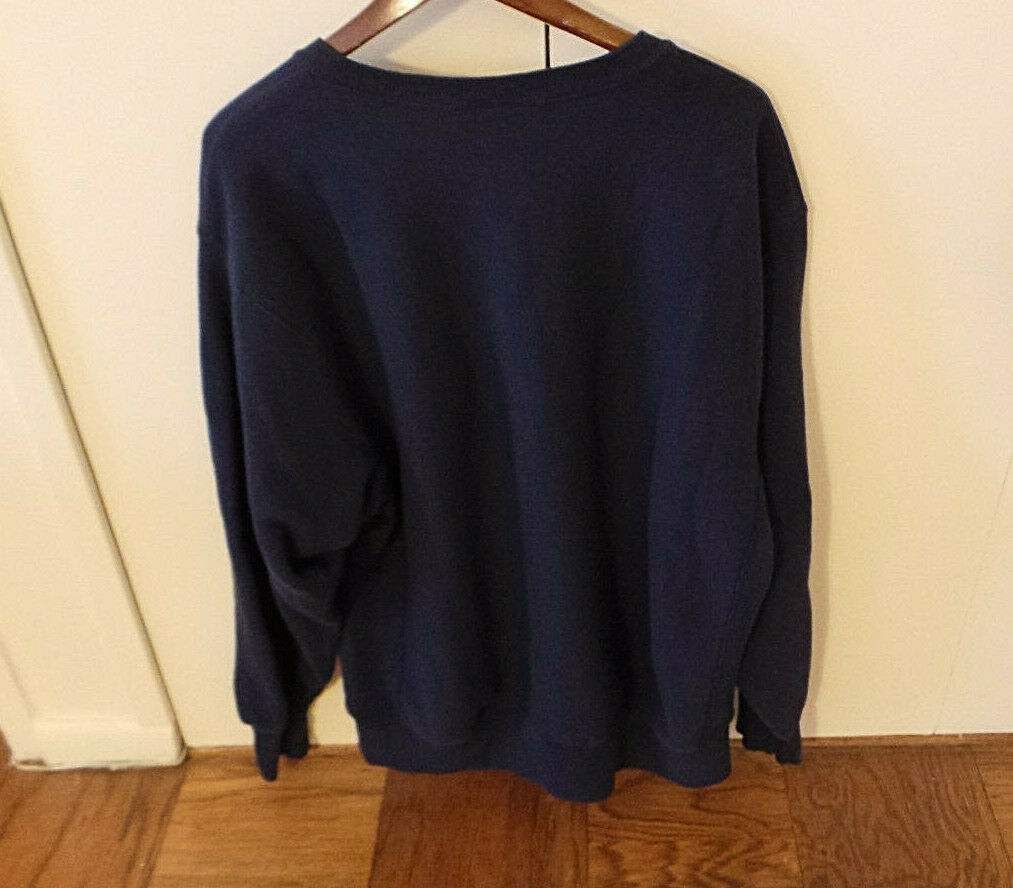 Putnam Sweatshirt Navy Color w Bold Letters Size XL Made in USA by Lee VG+ image 4