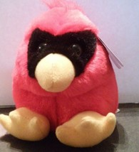 New Swibco Plush Mini Beanie PUFFKINS Fluffy Chubby Casey The Red Bird C... - $10.00