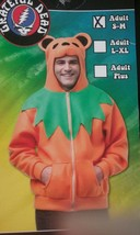 Rasta Imposta Ha Ha Hoodie Unisex Grateful Dead Orange Dancing Bear Adult S/M - $34.16