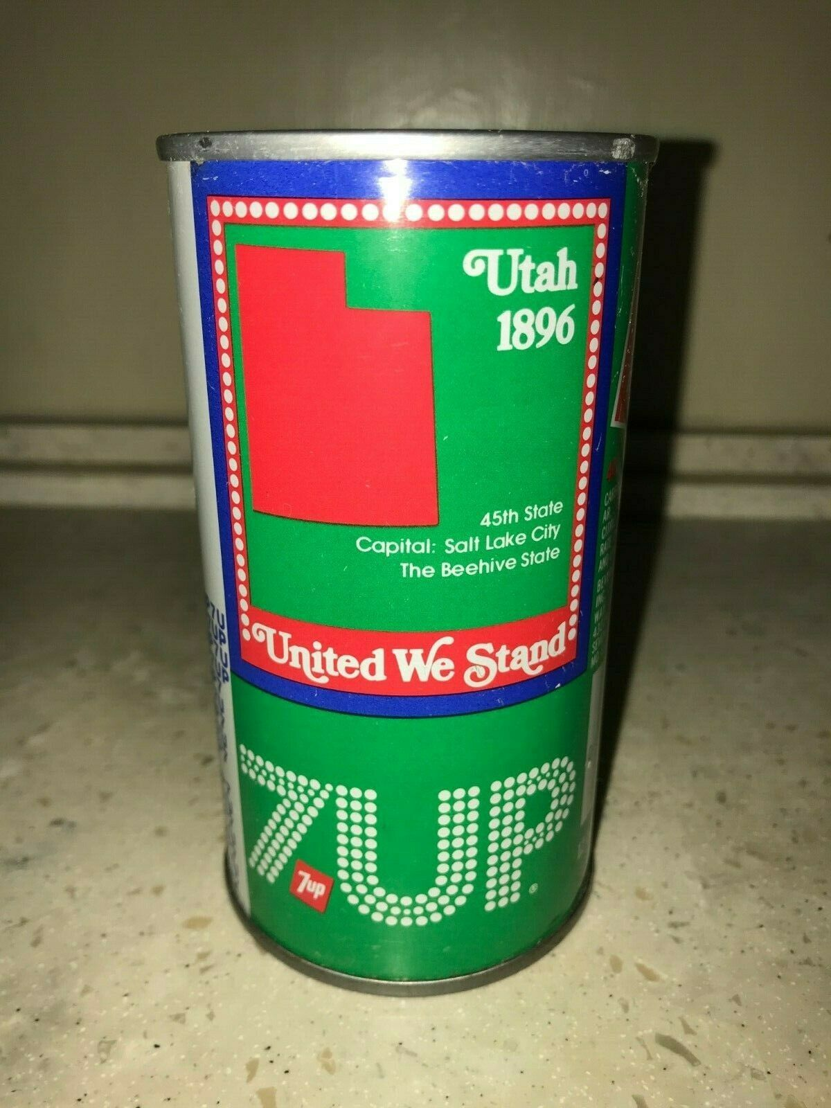 Primary image for 7 UP UNCLE SAM CAN 1976, UTAH - COMPLETE YOUR COLLECTION!!