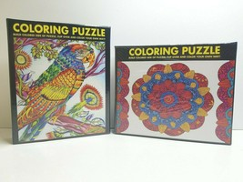 Mandala Parrot 300 Piece Coloring 2 Sided Jigsaw Puzzles White Mountain ... - $39.59