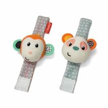 Infantino Wrist Rattles, Monkey and Panda, New - $6.93