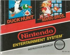 ORIGINAL Vintage Super Mario Brothers / Duck Hunt Nintendo NES Manual  - $9.49
