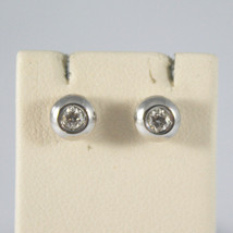 SOLID 18K WHITE GOLD EARRINGS, WITH DIAMONDS CT 0.13, MADE IN ITALY. image 1