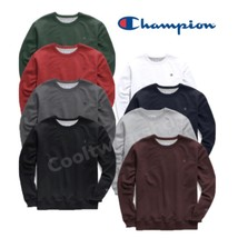 Champion Powerblend Men's Fleece Crew Long Sleeves Sweatshirt S0888 407D55 - $26.95