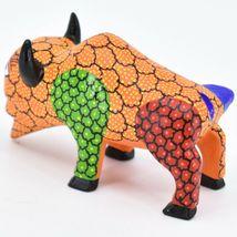 Handmade Alebrijes Oaxacan Wood Carved Painted Folk Art Buffalo Figurine image 3