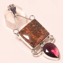 "Unakite, Pink Amethyst Gemstone Fashion Ethnic Jewelry Pendant S-2.70"" U... - $4.93"