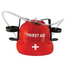 Thirst Aid Beer Drinking Hard Hat Red - $18.98