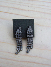 1950's Retro Clip On Earring set, Vintage Rhinestone Dangle earring set ... - $13.00