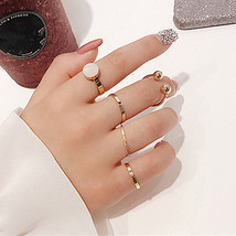2017 Korean 5Pcs/Set Simple Knuckle Rings For Women Bijoux Fashion Geometric Fin - $10.77