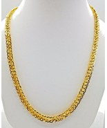 """Hollow 22k Yellow Gold 20"""" Link Chain Necklace 19.950 Gm Rajasthan India... - $3,647.21"""