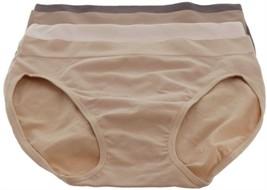 Breezies Set 4 Seamless Cotton Hi-Cut Brief Panties Shade of Nude 1X NEW... - $17.80
