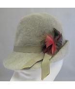 Vintage Wool Gray Women Hat Genuine Mid Century 50s Doree of New York Me... - $15.00