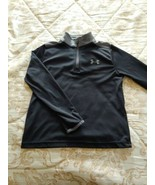 Under Armour Sport Shirt Boys Size Small YSM HeatGear Long Sleeves Black... - $14.03