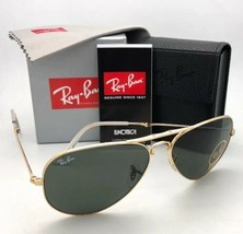 RAY-BAN Folding AVIATOR Sunglasses RB 3479 001 58-14 Gold Frames G-15 Gr... - $199.95
