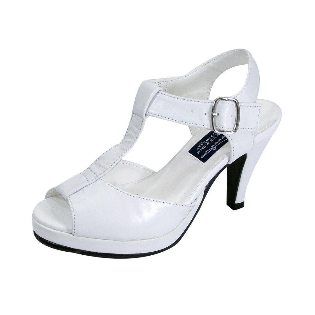 PEERAGE Margie Women Wide Width Peep Toe T-Strap High Heel Platform Sandal  - $58.45