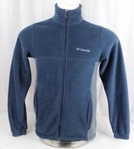 Columbia men's fleece zipper pull over jacket blue size Small - $22.11