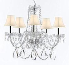 Swarovski Crystal Trimmed Murano Venetian Style Chandelier Crystal Light... - €252,51 EUR