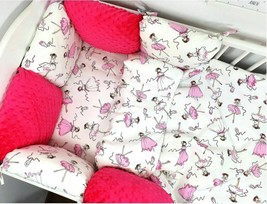 PILLOW BUMPER 11ps Toddler Bed Crib Bumpers Set of Bedding For Cot Bed Ballerina - $139.85