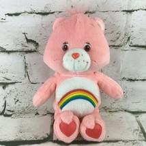 "Care Bears Cheer Bear Plush Pink Rainbow Belly Teddy 10"" Classic Stuffed... - $14.84"