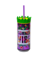 """Cool Gear 16 oz Easy Fill Pineapple Can Double Wall Insulated """"Summer Vibe"""" - $7.95"""