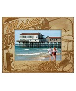 Maine with Seashell Laser Engraved Wood Picture Frame (5 x 7) - $29.46