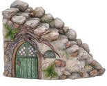 Miniature Fairy Garden of Enchantment Curved Stone Cottage Figurine Display 5 In