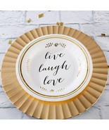 Live Laugh Love 9 in. Paper Plates (6 Sets of 8)  - $29.99