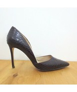 38 / US 8.5 - Louise et Cie HERMOSAH Croc Embossed Pointed Heels Pumps 0... - $40.00