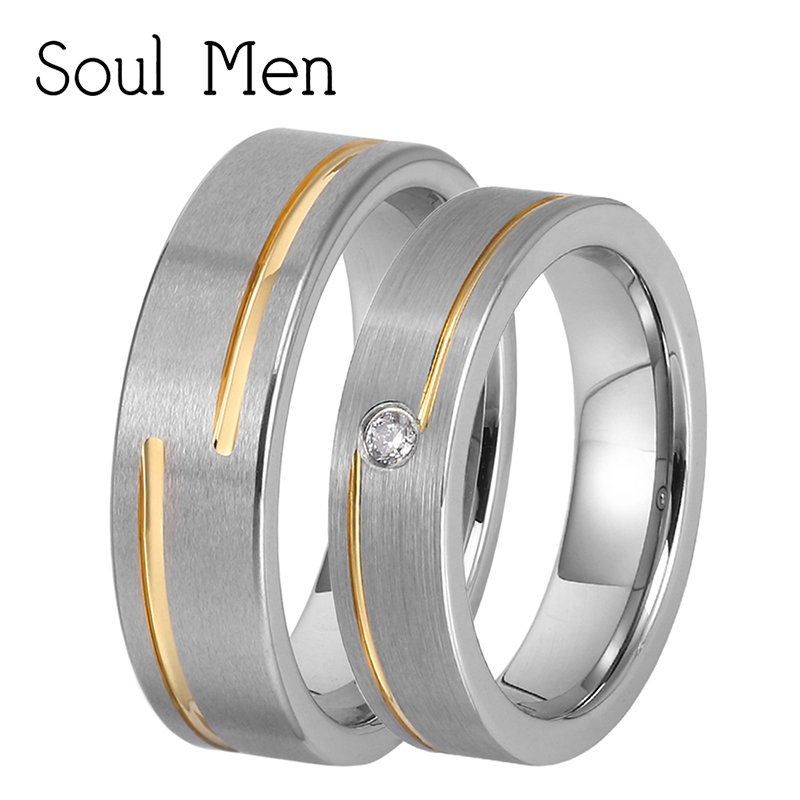 Primary image for 1 Pair Women & Women Tungsten Carbide Wedding Rings Set 5mm for Girl with Stone