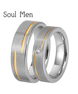1 Pair Women & Women Tungsten Carbide Wedding Rings Set 5mm for Girl with Stone  - $55.58