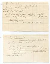 Set of 10 1862 Washington County Ohio Draft Commissioner Receipts - $29.70