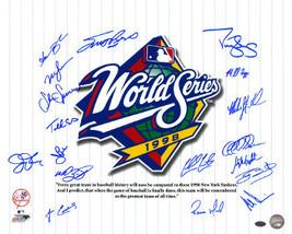 New York Yankees signed 16x20 Photo 1998 WS Champs Pinstripe Giuliani Qu... - $158.95