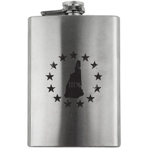 Original New Hampshire State III Percenter Stainless Steel 8oz. Flask - $19.99