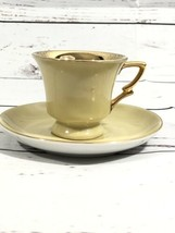 Hand Painted Lefton China Demitasse Mini Cup And Saucer #1643 Gold Lining  - $22.28