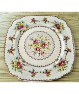 Royal Albert Petit Point Square Dinner Plate Needlepoint Floral England ... - $18.69