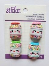 Small Sprinkles Resin Jar Sticker Embellishments.  CLEARANCE