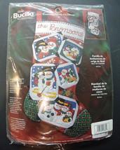NEW! Bucilla Snowman Family Christmas Scrapbook Photo Album Felt Stocking Kit #8 - $28.99