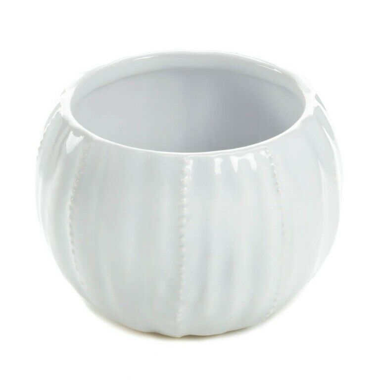 Set of 2 Chic Pure White Textured Ceramic Round Votive Candle Holders image 3