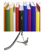 Walking Pheasant Pewter Emblem Pattern bookmark for books organisers cod... - $13.04