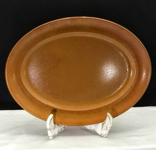 "Vintage Homer Laughlin Wells Art Glazes Burnt Sienna aka Rust 13 1/2"" Pl... - $19.95"