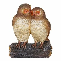 Exhart Solar Owls Statue – Owl Couple on Tree Stump, Solar Resin Statue - - $35.73