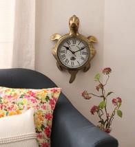 Golden Antique Brass Good Luck Tortoise Wall Clock - $381.00