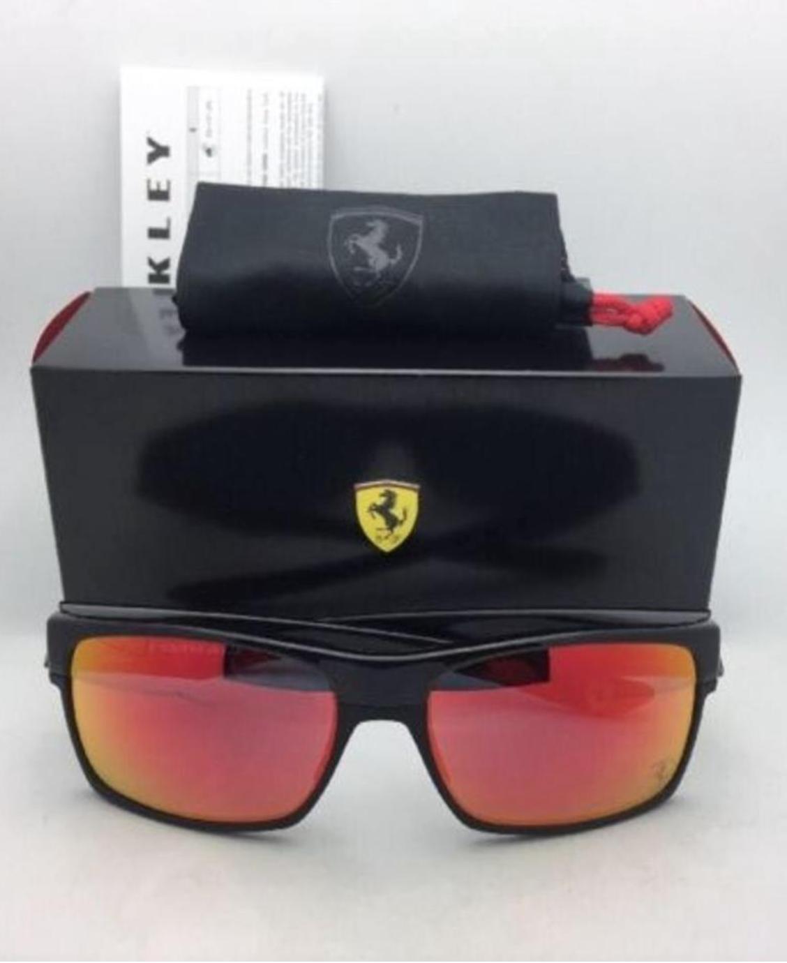 New OAKLEY Sunglasses Special Edition Scuderia Ferrari TWOFACE OO9189-36 Black