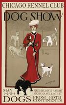 Vintage Art POSTER.Chicago Dog Show.Room Decor.kitchen Interior Designer... - $10.89+