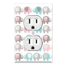 Elephant Nursery Pattern Decorative Duplex Outlet Wall Plate Cover - $14.12