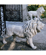 Regal Lions Estate Gate Sculptures Statues (set of 2) for Home or Garden - $494.01